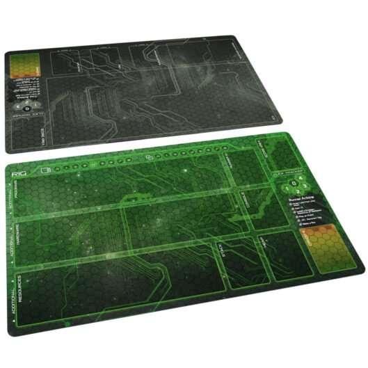 Netrunner Playmat Set Weyland Grey & Shaper Green