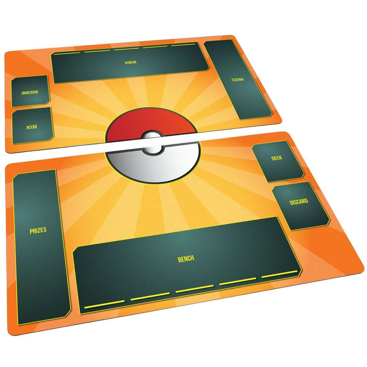 Pokemon Playmat Set Stadium Flame Orange